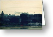 San Francisco Bay Greeting Cards - Ghirardelli Square Greeting Card by Linda Woods