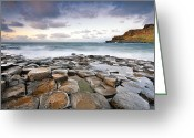 Klarecki Greeting Cards - Giants Causeway Greeting Card by Pawel Klarecki