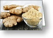 Spice Photo Greeting Cards - Ginger root Greeting Card by Elena Elisseeva