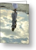 Anonymous Photo Greeting Cards - Girl And The Sky Greeting Card by Joana Kruse