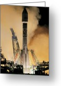 2007 Greeting Cards - Globalstar Satellite Launch Greeting Card by Ria Novosti