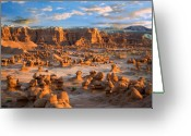 Desert Solitude Greeting Cards - Goblin Valley State Park Utah Greeting Card by Utah Images