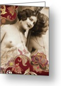 Corset Greeting Cards - Goddess Greeting Card by Chris Andruskiewicz