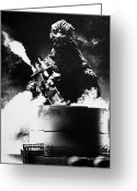 Destruction Greeting Cards - Godzilla Greeting Card by Granger