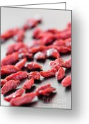 Snack Greeting Cards - Goji berries Greeting Card by Elena Elisseeva