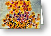 Chromatic Painting Greeting Cards - Goldenrod Greeting Card by Don  Wright