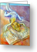 Featured Mixed Media Greeting Cards - Golem Greeting Card by Filip Mihail