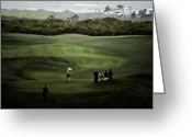 Golf Digital Art Greeting Cards - Golf at the Dunes Greeting Card by Dale Stillman