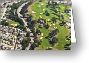 Sand Traps Greeting Cards - Golf Course Greeting Card by Eddy Joaquim