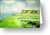 Sports Greeting Cards Greeting Cards - Golf Strategy Greeting Card by Geeta Biswas