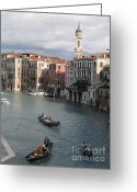 Venice - Italy Greeting Cards - Gran Canal. Venice Greeting Card by Bernard Jaubert