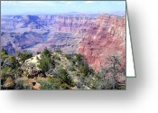 Awe Inspiring Greeting Cards - Grand Canyon 8 Greeting Card by Will Borden