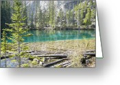 Mark Lehar Greeting Cards - Grassi Lakes Greeting Card by Mark Lehar