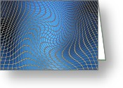 Ripple Space Time Greeting Cards - Gravity Waves In Space-time, Artwork Greeting Card by Victor De Schwanberg