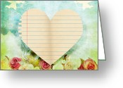 Antique Artwork Greeting Cards - greeting card Valentine day Greeting Card by Setsiri Silapasuwanchai