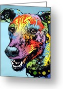 Dog Print Greeting Cards - Greyhound LUV Greeting Card by Dean Russo