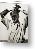 Philadelphia Phillies Photo Greeting Cards - Grover Cleveland Alexander Greeting Card by Granger