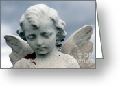 Guardian Angel Greeting Cards - Guardian Angel Greeting Card by Sophie Vigneault