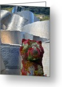 Guggenheim Greeting Cards - Guggenheim Museum Bilbao - 2 Greeting Card by RicardMN Photography