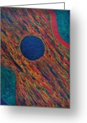 Acrylic Tapestries - Textiles Greeting Cards - Guitorso Greeting Card by TB Schenck