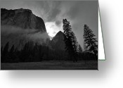 Rain Storms Greeting Cards - Gunsight Greeting Card by Chris Brewington