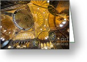 Aya Greeting Cards - Hagia Sophia Interior Greeting Card by Artur Bogacki