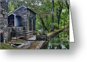 Mill Stone Greeting Cards - Hagley Museum Greeting Card by John Greim