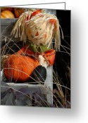 Straw Framed Prints Greeting Cards - Halloween 77 Greeting Card by Joyce StJames
