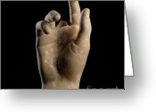 Pointing Greeting Cards - Hand Of Dummy Greeting Card by Bernard Jaubert