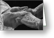 Drawings Drawings Greeting Cards - Hands of Love Greeting Card by Jyvonne Inman