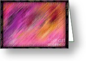 Happy Colors Greeting Cards - Happy Colors Abstract Greeting Card by Carol Groenen