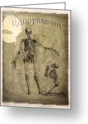 Ghoul Greeting Cards - Happy Halloween Greeting Card by Jeff Burgess