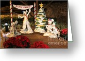 Downtown Disney Greeting Cards - Happy Holidays Greeting Card by Pamela Leggett