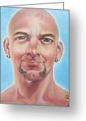 Photo-realism Greeting Cards - Happy Greeting Card by Michael Flynt