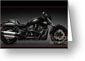 Motorbike Greeting Cards - Harley Davidson VRSCD Night Rod Special Greeting Card by Oleksiy Maksymenko