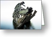 Shipwreck Greeting Cards - Harvey Neelon shipwreck so they say... Greeting Card by Jakub Sisak