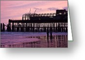 Contest Greeting Cards - Hastings Pier After The Fire Greeting Card by Dawn OConnor