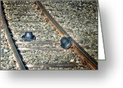 Railroad Track Greeting Cards - Hats Greeting Card by Joana Kruse