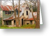 Ozarks Greeting Cards - Haunted House Greeting Card by Marty Koch