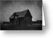 Rural Decay Prints Greeting Cards - Haunted Greeting Card by Larysa Luciw