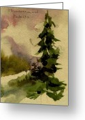 Sympathy Painting Greeting Cards - He restores my soul Greeting Card by Anne Duke