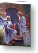 Christ Child Greeting Cards - Healing Touch Greeting Card by Tommy  Winn