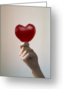 Donation Greeting Cards - Healthy Heart Greeting Card by Cristina Pedrazzini