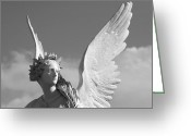 Angel Statue Greeting Cards - Heavenly Greeting Card by Marc Huebner
