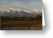 Bison Range Greeting Cards - Heavenly Mission Panorama Greeting Card by Katie LaSalle-Lowery
