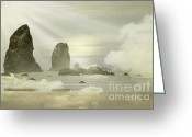 Light Gray Greeting Cards - Heavenly Sea Greeting Card by Andrea Hazel Ihlefeld