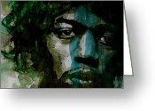 Jimi Hendrix Painting Greeting Cards - Hendrix Greeting Card by Paul Lovering