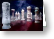 Chess Pieces Greeting Cards - Her Majesty Greeting Card by Tom Mc Nemar