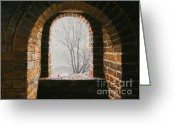 Great Painting Greeting Cards - Here Now Greeting Card by Lynette Cook