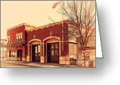 Fire Houses Greeting Cards - Historic Niles District in California Near Fremont . Niles Fire Station Number 2 . 7D10732 Greeting Card by Wingsdomain Art and Photography